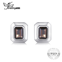 4ct Smoky Quartz Wedding Cufflinks For Men Solid 925 Sterling Sliver Vintage Amazing