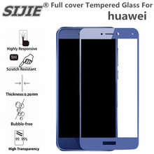Full cover Tempered Glass For HUAWEI honor 8 lite p8lite 2017 6C PRO note View 10 P20 play P smart Selfie screen protective blue(China)