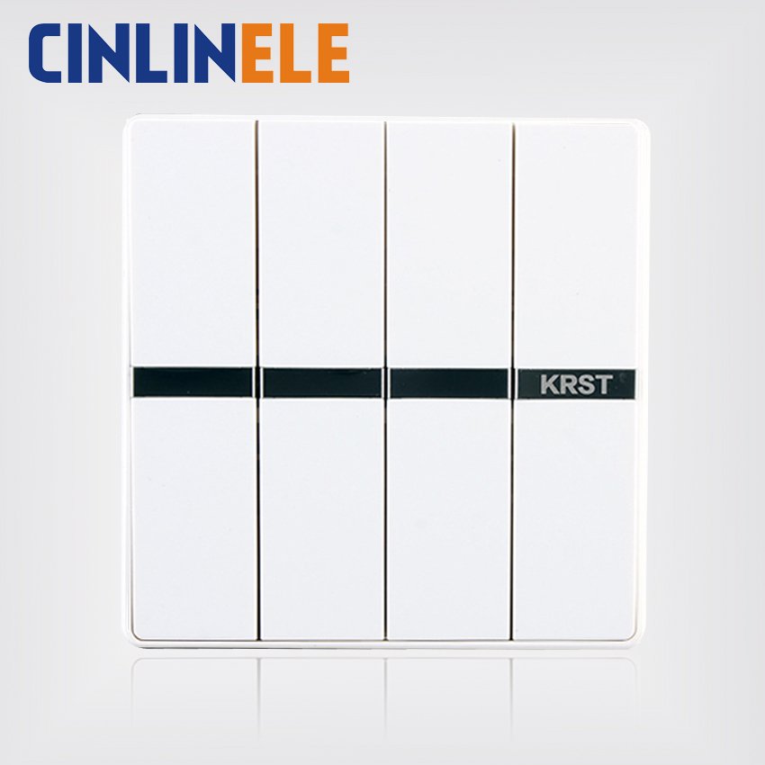1Pcs Luxury Wall Switch, 4 Gang 2 Way, Ivory White, Brief Art Weave, Light Switch, AC 110~250V  10A No border design 86mm*86mm the ivory white european super suction wall mounted gate unique smoke door