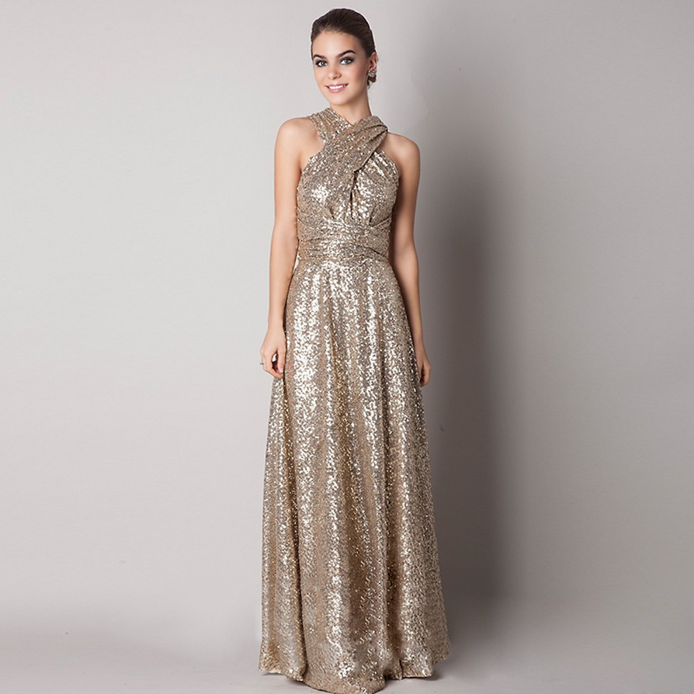 Online get cheap off the shoulder gold bridesmaid dresses 2017 long sequind rose goldchampagne bridesmaid dresses maid of honor convertiable maternity plus size country dresses 10291137 ombrellifo Gallery