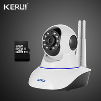 Latest Version KERUI IWifi IP ISO Android APP Remote Control HD IP Camera WiFi Vandal proof For Home House Burglar Alarm System