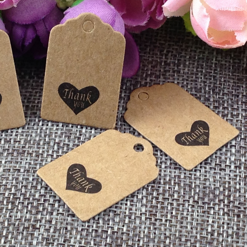 100PCS Lot Thank You Kraft Tag For Gift Box And Paper