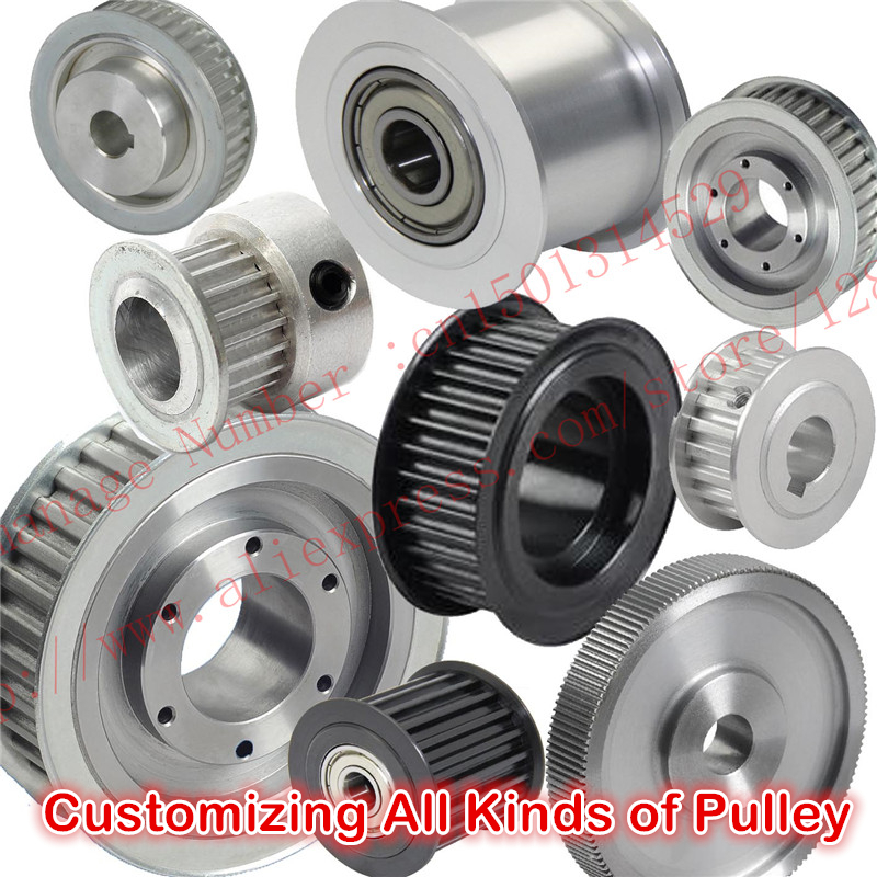 Customizing all kinds of Metric Trapezoid T2.5 Timing Pulley Pitch 2.5mm Aluminium alloy or Steel  T2.5 Timing belt pulley m75 750kgs pulley 304 stainless steel roller crown block lifting pulley factory direct sales all kinds of driving pulley