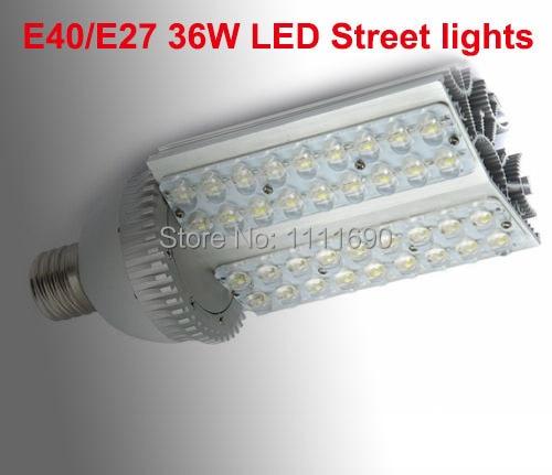 2014 AC85-265V 36W E40/E27 LED street lamps led spotlight E40 light led bulb 110V/220V 36*1W led streetlight led bulb lamps e27 e26 e39 e40 5730smd