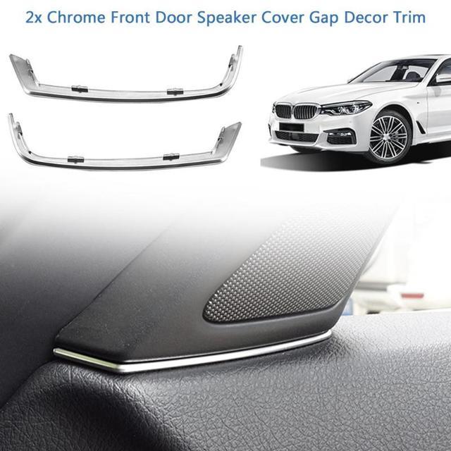 2 piezas de coche puerta de la cubierta del altavoz brecha decoración Ajuste de plata ABS Interior molduras para BMW serie 5 F10 2011 -Accesorios de coche 2013