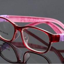 Однотонные Мягкие гибкие оправы для очков для мальчиков и девочек, детские оптические оправы, Детские Модные безопасные оправы для очков по рецепту