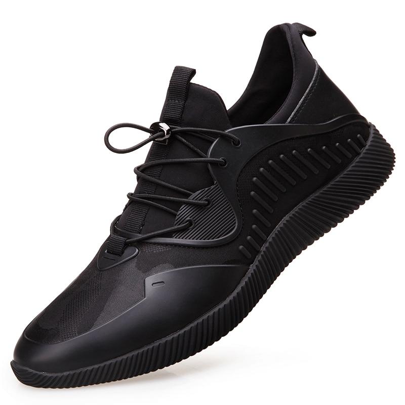 Mode Qualité À 2 De Nouvelle Noir Rouge Maille Da090 1 Lacets Marque Marche La Tendance Automne Chaussures Haute Confortable Hommes 2019 N8w0vnm