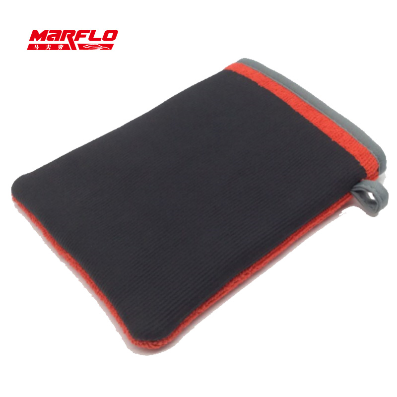 MARFLO 10pcs Car Wash Magic Clay Mitt Bar Pad Cloth Microfiber Towel Auto Care Wash Cleaning Sponge Pad Tools