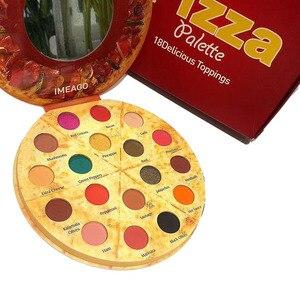 Persoonlijkheid Pizza 18 Kleur Scrub Shimmer Oogschaduw Palet Smoky Make Pigment Oogschaduw Poeder Langdurige Waterdichte