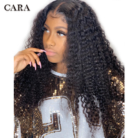 Kinky Curly Wig 13x6 Lace Front Human Hair Wigs Brazilian Remy Hair 180% Density Wigs For Women Pre Plucked With Baby Hair CARA