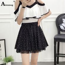 Newest 2019 preppy style Chiffon bust skirt women a-line high waist mini floral print all-match pleated Casual female skirt все цены