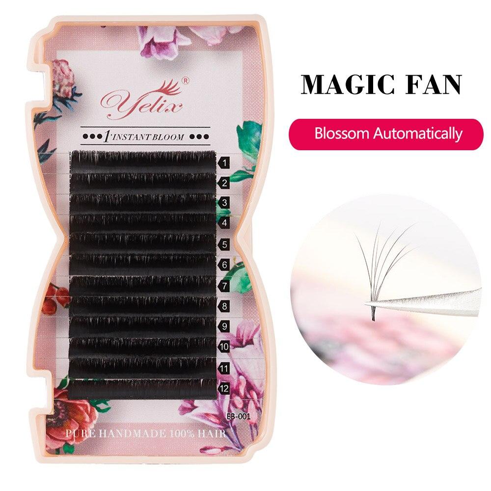 Yelix Falsche Einzel Fan Volumen Wimpern Blossom Wimpern Verlängerung Blüte 3D Nerz Magnetische Kamelie Gefälschte Wimpern Extensions