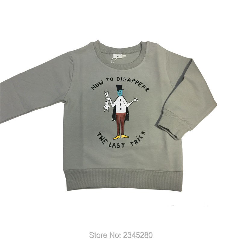 For Boys Girls Sweater T-Shirts Clothes Autumn Winter New 2017 New Style Magician Print Kids Clothing Tops Tees Sweatshirt