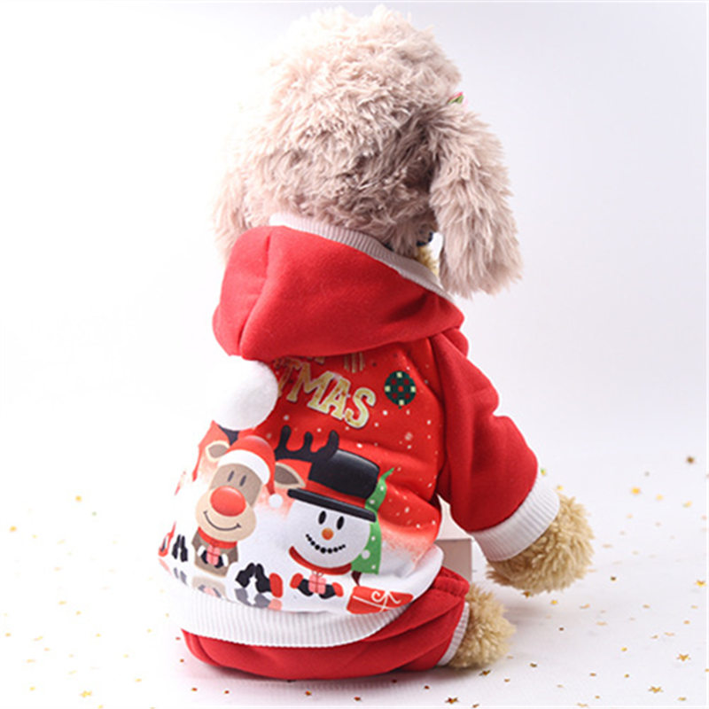 2018 New Christmas Pet Puppy Hoodied Sweatshirts Dog Clothes Costume for Chihuahua French Bulldog Pet Supplies Accessories in Dog Hoodies from Home Garden