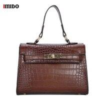Women's Crocodile Pattern Leather Tote Fashion Designer Small Alligator Handbag Purse for Women Vintage Crossbody Shoulder Bags
