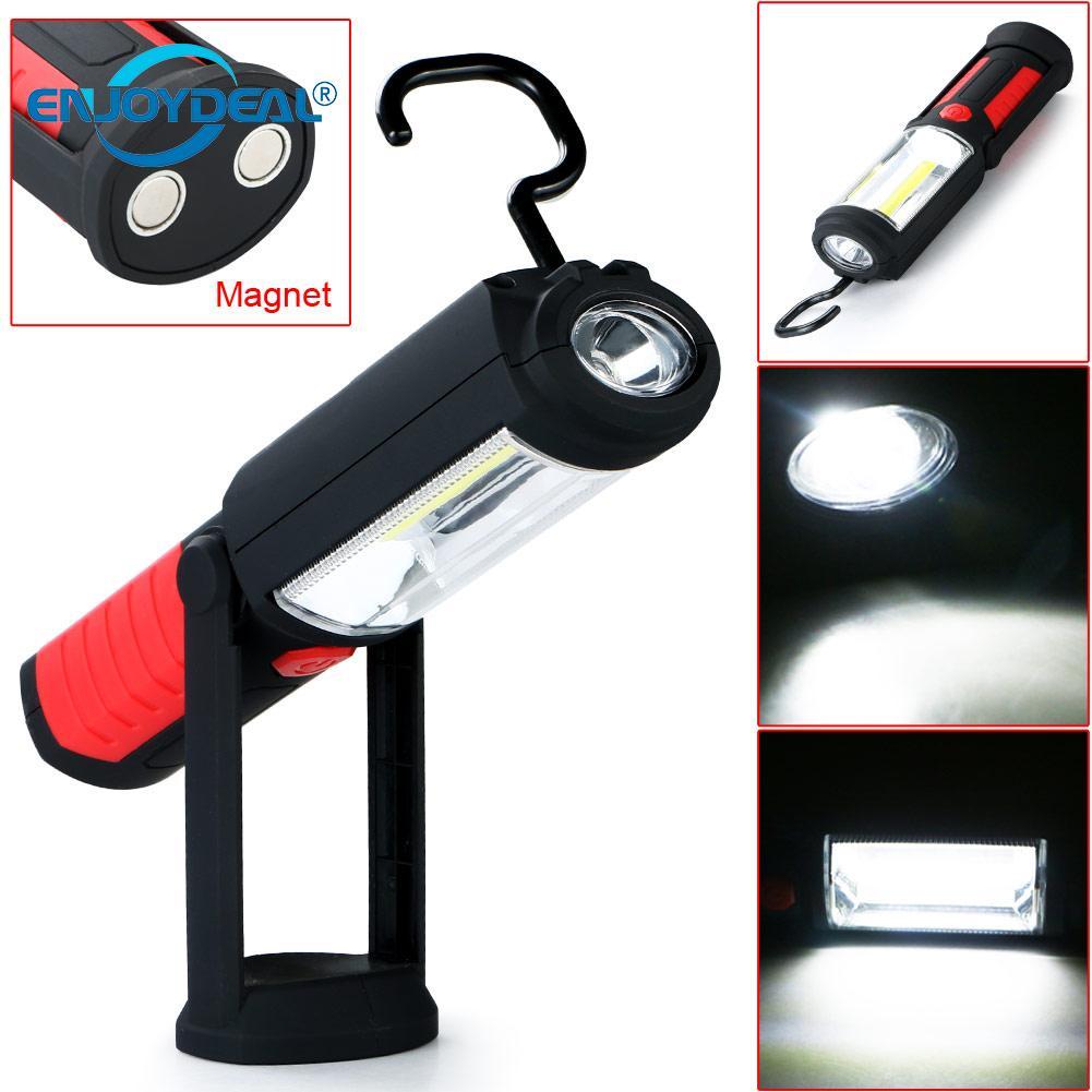 Battery Powered Cob Led Flashlight Work Light Magnetic