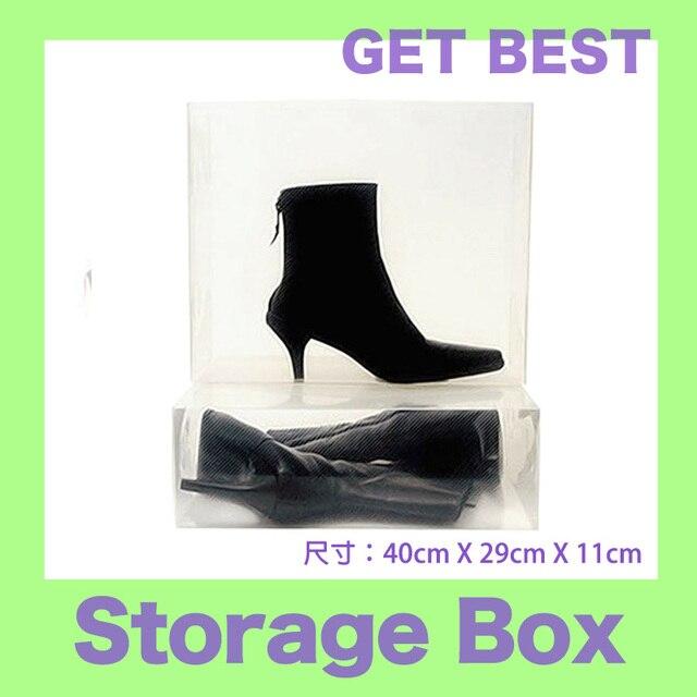 2pc/lot womenu0027s transparent boots shoes storage box 40x29x11cm  sc 1 st  AliExpress.com & 2pc/lot womenu0027s transparent boots shoes storage box 40x29x11cm-in ...