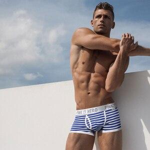 Image 4 - Yeni 5 adet/grup paketi pembe kahraman erkek Boxer iç çamaşırı pamuk şerit sıradan rahat elastik kemer erkek şort külot yüksek kalite