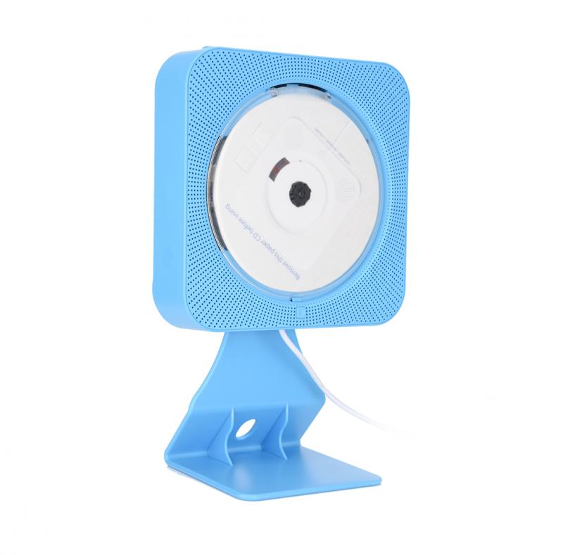 New Wall Mounted Bluetooth DVD CD Player Speaker with Remote Control (Blue US)