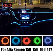 Car Styling 9M A Set EL Wire / For Alfa Romeo 156 / 159 / 166 / 147 / Romantic Atmosphere Lamp / Car Decoration Cold Light Lines