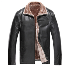 Stylish Leather Jackets For Men Designer Luxury Thick Faxu Fur Lining Coats 3xl Man Black Brown Warm Freece Clothing