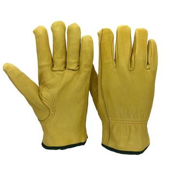 Rękawice ochronne skóra owcza mężczyźni robocze rękawice spawalnicze bezpieczeństwo ochronne sporty ogrodowe MOTO odporne na zużycie rękawice 4020Y tanie i dobre opinie RJS SAFETY Skórzane CN (pochodzenie) RĘKAWICE ROBOCZE NG4020Y Yellow Driver Gloves Working Gloves Welder gloves Sheepskin leather