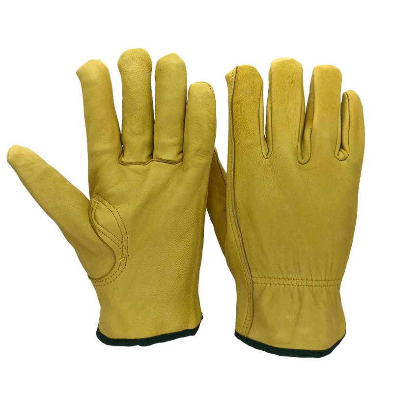 Safety Work Gloves Sheepskin Leather Men Working Welding Gloves Safety Protective Garden Sports MOTO Wear-resisting Gloves 4020Y 50pcs disposable safety protective latex for home cleaning industria rubber long female kitchen wash dishes garden work gloves a