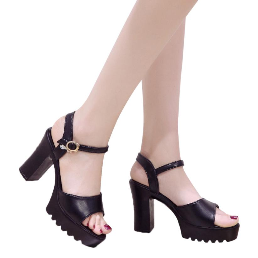 e668716d8617 ladies sandals platform sandals wedges shoes for women black open toe heels  high heel women summer