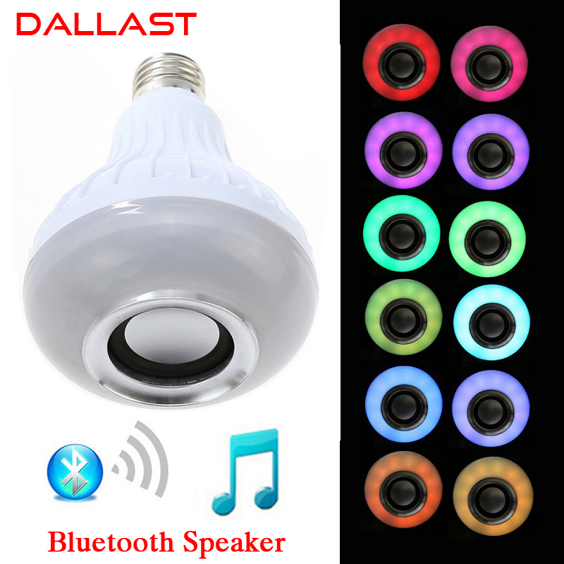 LED Lamp Wireless RGB Bulb Bluetooth Lampada Speaker Lamparas RC Ampoule E27 85V-265V Bombillas Light Music Playing DALLAST