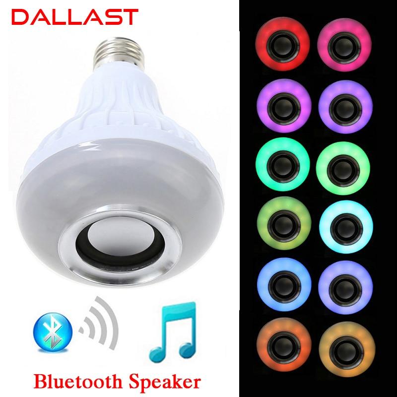 LED Lamp Wireless RGB Bulb Bluetooth Lampada Speaker Lamparas RC Ampoule E27 85V-265V Bombillas Light Music Playing DALLAST autoprofi pet 160r