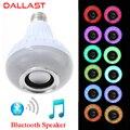 LED RGB Sem Fio Bluetooth Speaker Lâmpada E27 85 V-265 V LED RGB Lâmpada de Luz Música Tocando Com Controle Remoto controle DALLAST
