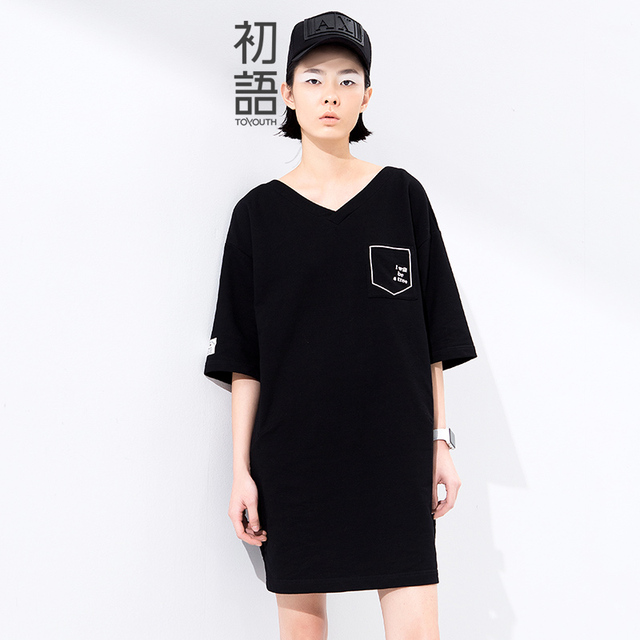 New Arrival Straight Mid-Calf Casual Dresses with Pockets