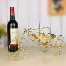 Gold  fashion wine rack home iron wine cooler entranceway decoration