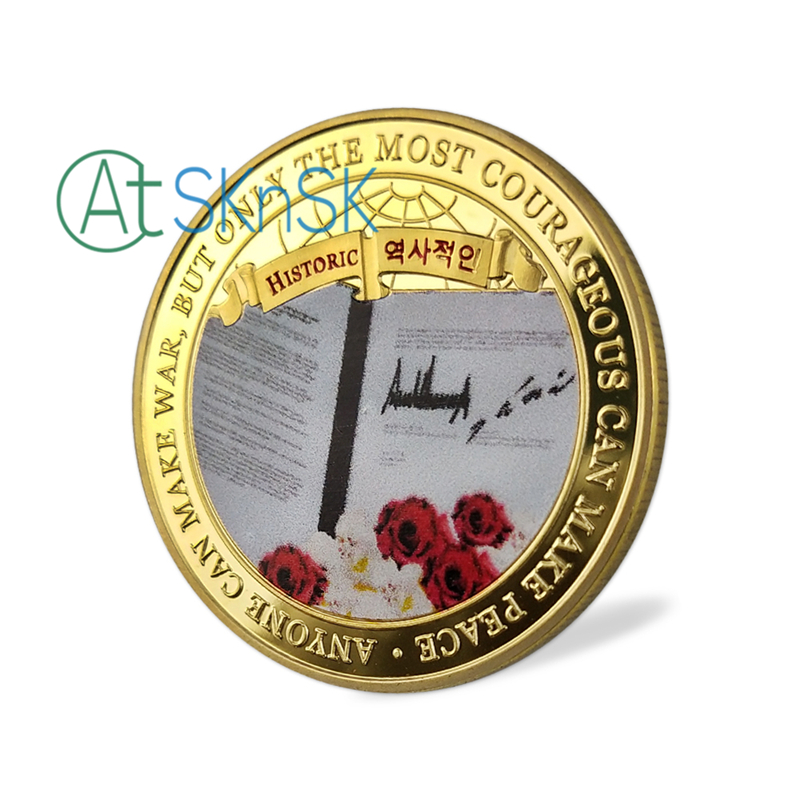 Gold Metal Coins Donald Trump Challenge Coin 2018 Gold Plated Presidential  Trump Coins Collectibles Gift Home Decoration