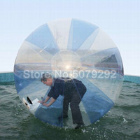 2M Diameter Inflatable Water Zorb Ball For Human TPU Materia Hamster Ball With Zipper Clear Water Balloon/Water Walking Ball
