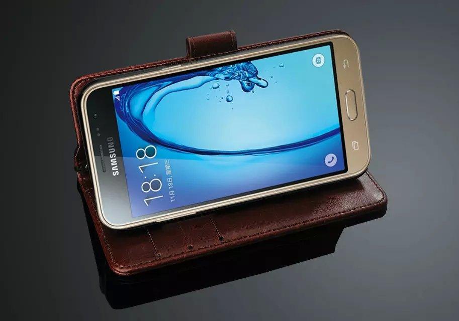 Para Fundas Samsung J3 Funda con tapa de alta calidad Funda de cuero - Accesorios y repuestos para celulares - foto 5