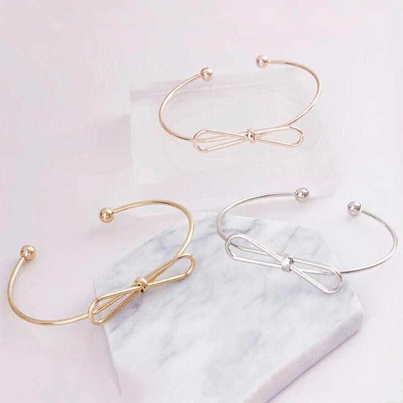2019 di Modo Coreano del commercio all'ingrosso dei monili di modo doppio anello opaco oro rosa del braccialetto del braccialetto femminile braccialetto-un prezzo unico