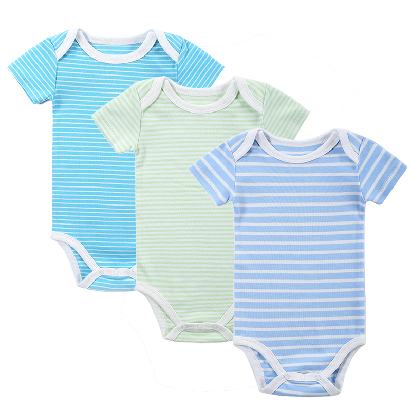 c0acc4fc7 New 3PCS Baby Boy Rompers Baby Clothing Set Summer Cotton Baby Girl ...