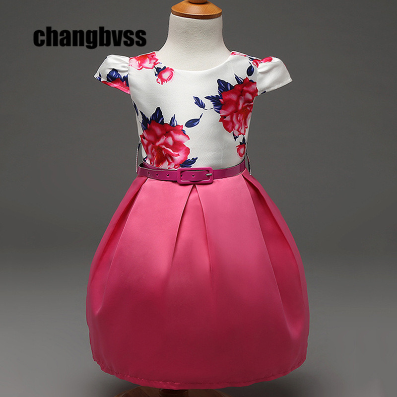 Red and Pink Color New Girls Ball Gown Dress for Birthday Party Children's Clothing Cute Infant Flower Girls Dresses Vestidos 4pcs new for ball uff bes m18mg noc80b s04g