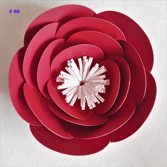 1 Piece 10cm Cardstock Personalized Small Paper Flower For Wedding