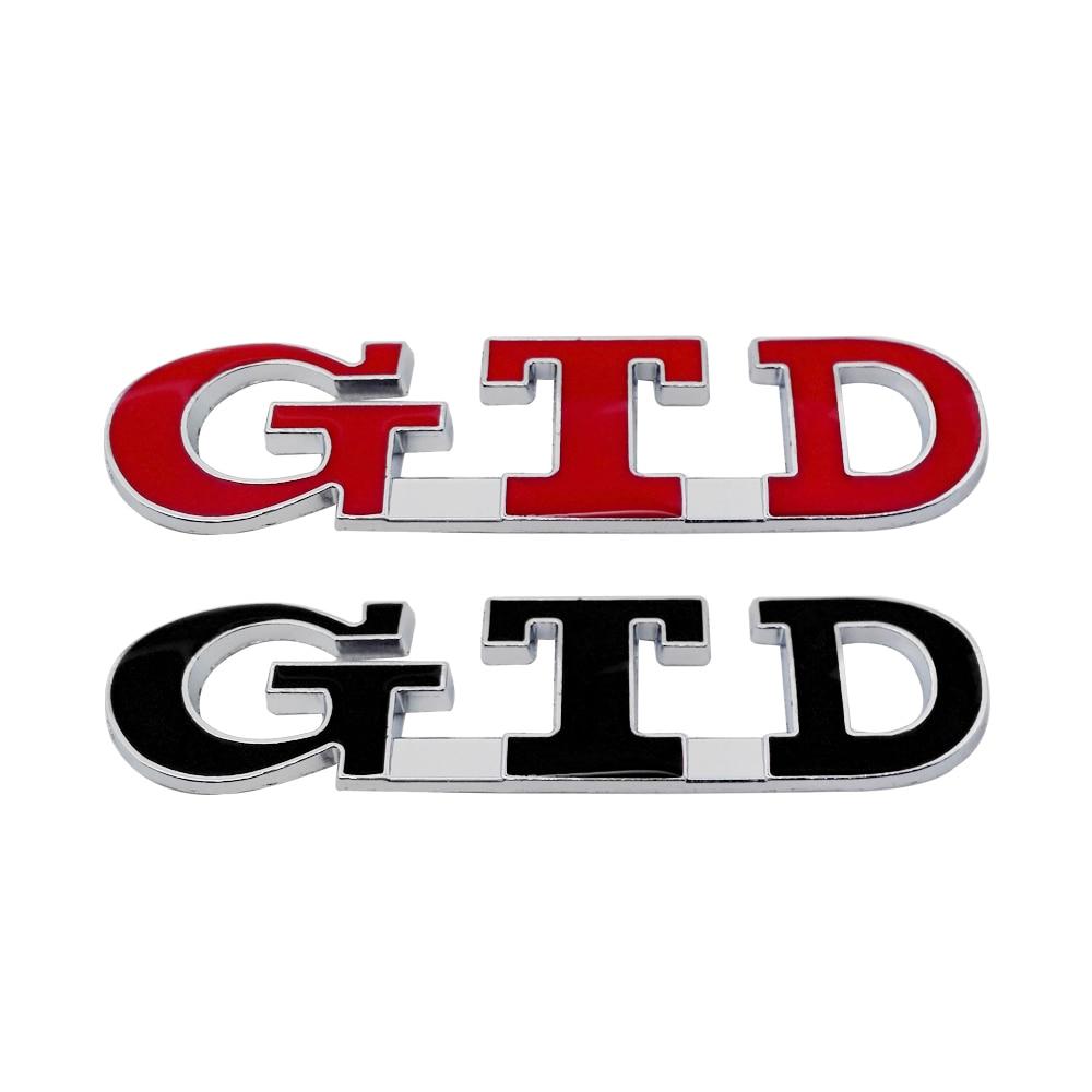 Car Exterior Accessories Car Sticker Auto Emblem For GTD Logo For Nissan VW Peugeot 307 Audi A3 Lexus KIA Mazda 3 Honda Civic