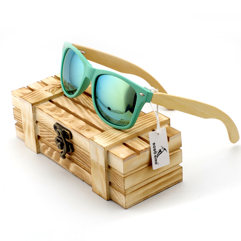 cd1201fa929 BOBO BIRD Bamboo Legs Men s Polarized Wood Holder Sun Glasses With Retail Wood  Case Fashion Sunglasses
