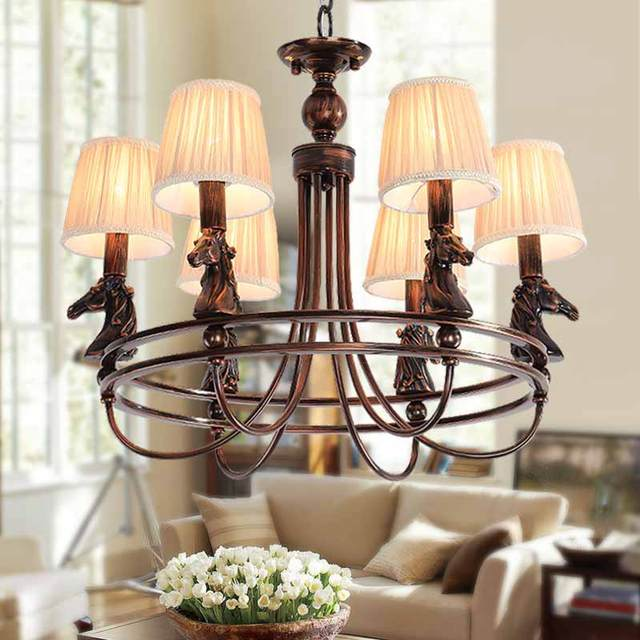Modern retro chandelier for kitchen bedroom ceilinghanging antique modern retro chandelier for kitchen bedroom ceilinghanging antique iron chandelier american horse style blc1511 aloadofball Image collections