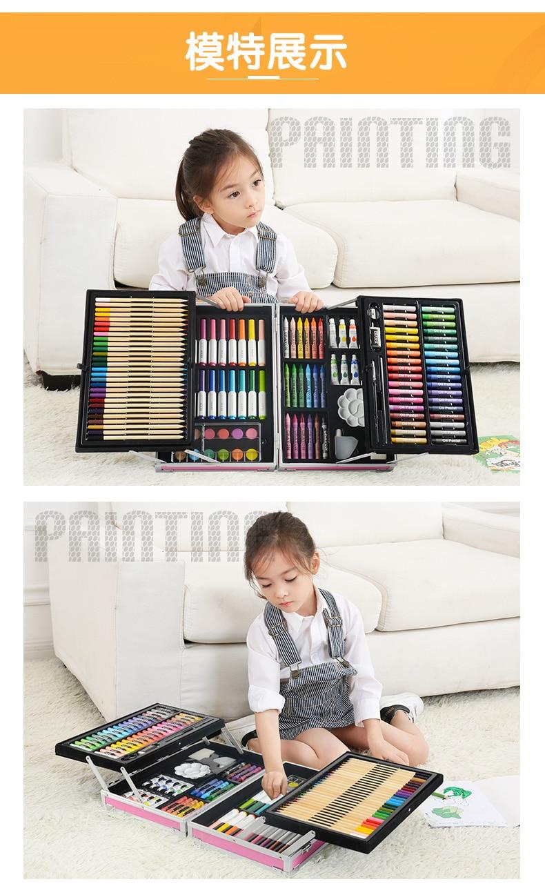 Conjuntos de pintura não-tóxico para crianças, pincéis