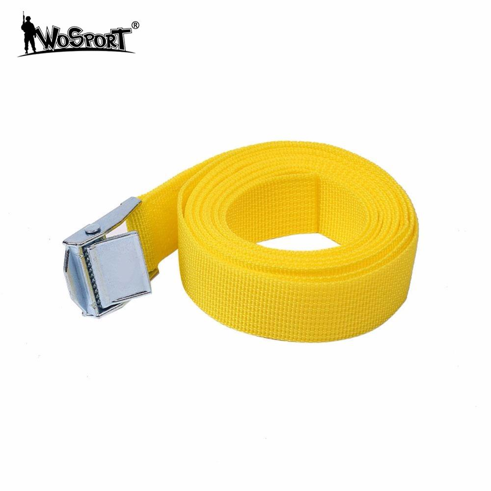 WoSporT 2.5M Car Fixed Strap Tie Luggage Belt Luggage Baggage Straps Tension Rope Quick Release Cargo With Buckle