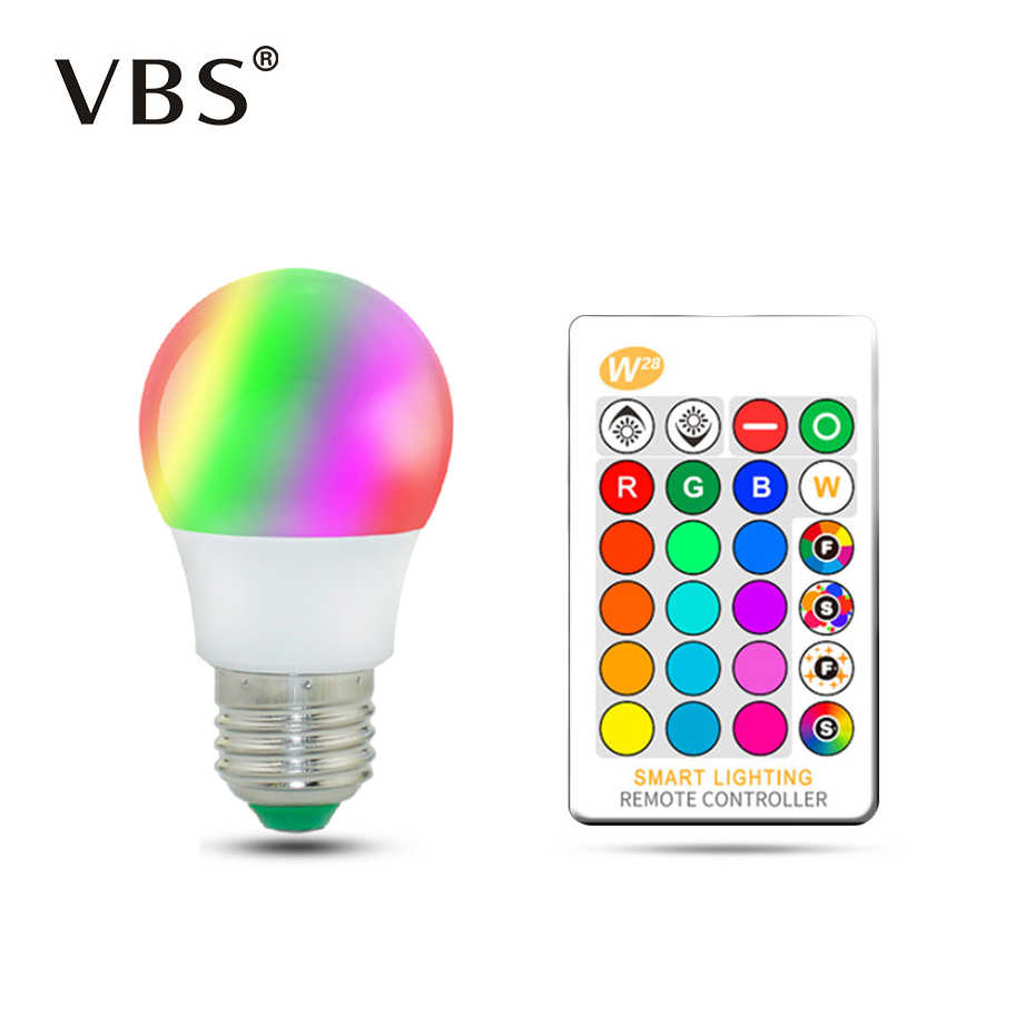 Magic RGB LED Light Bulb AC85-265V Smart Lighting Lamp Color Change Dimmable With IR Remote Controller 5W 10W 15W Smart Bulb