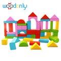 Wooden 50Pcs Block Montessori Children Kids Toys Intelligence Early Educational Game toys for children oyuncak