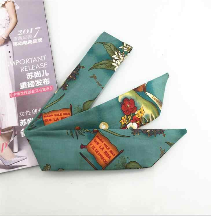 Винтажный стиль украшения для волос baja banana leaf hair с высоким качеством широкая печатная железная резинка для волос спираль сумка для лица головной платок
