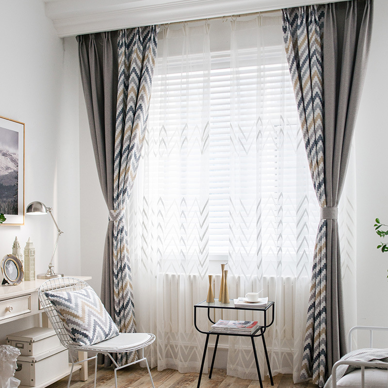 Us 114 40 Offbyetee Nordic Blackout Luxury Curtains Doors And Tulle For Modern Curtains Bedroom Curtains Living Room Window Curtain Drapes In