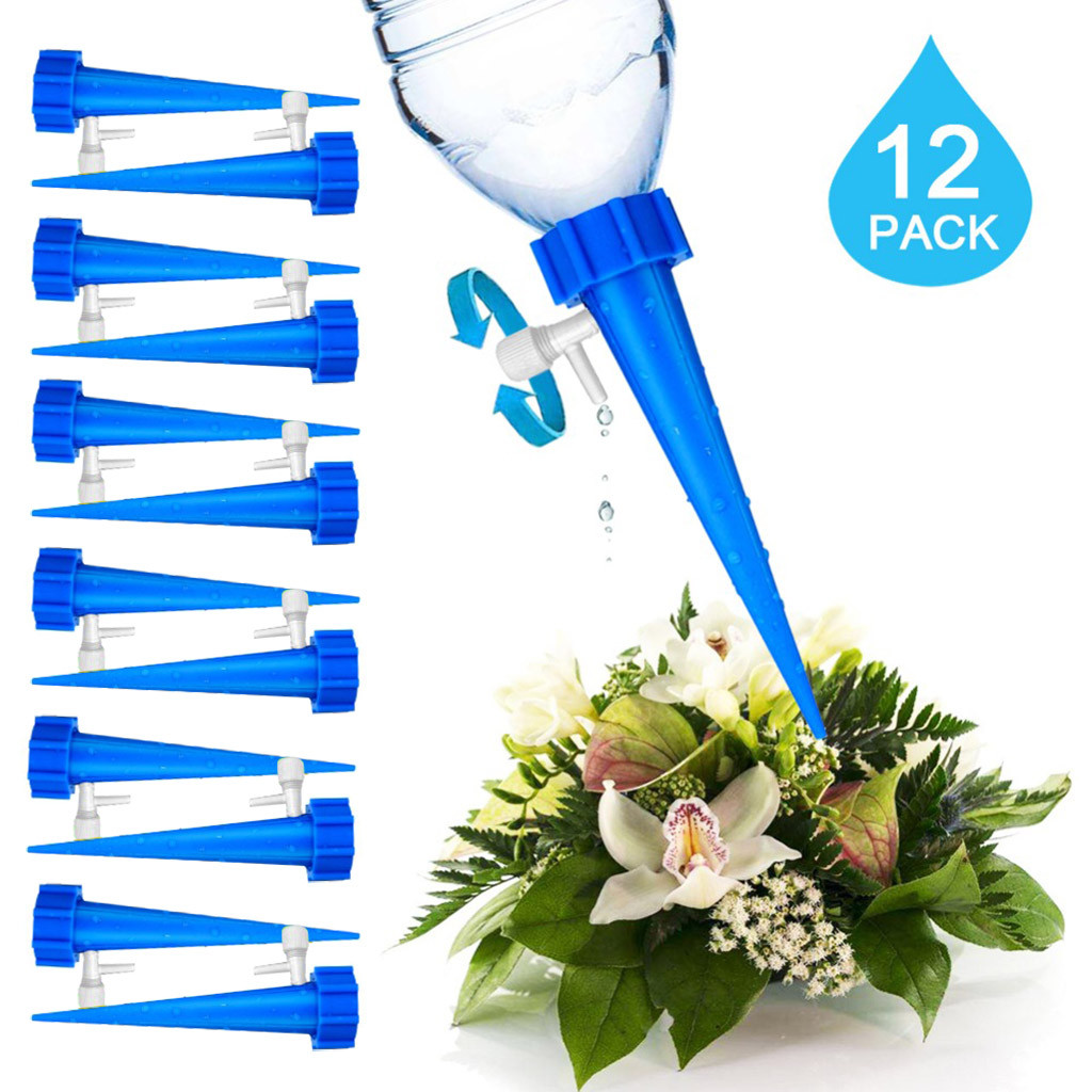Stakes-System Watering-Spikes Plant-Waterer Vacation Automatic Adjustable 12pcs/Set -Yj